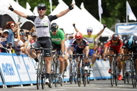 SACRAMENTO, CA - MAY 22: Mark Cavendish of Great Britian riding for Team Dimension Data for Qhubeka celebrates after winning stage 8 of the Amgen Tour of California on May 22, 2016 in Sacramento, California. (Photo by Chris Graythen/Getty Images) *** Local Caption *** Mark Cavendish